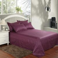 Quality Hotel bedding white hotel bed sheet Solid color 100% Cotton  Flat sheet for sale