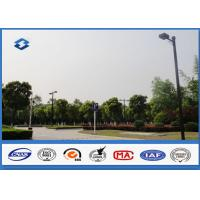China 6m - 11M Height Outdoor Parking Lot Light Poles 160km / h Wind Speed on sale