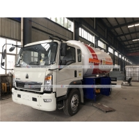 Buy cheap HOWO 5mt 5t 5tons LPG Dispenser Truck Cylinder Filling Tanker Truck from wholesalers