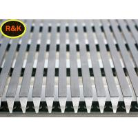 Quality SS304L Wedge Wire Screen Panel Shape Easy Penetrate Liquid Solid Separation for sale