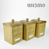 Quality Stocked kitchen Storage Container, Bamboo Storage Container for Coffee Sugar Tea for sale
