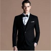 Quality Single Breasted mens fashion suits with Three Piece for Weddings for sale