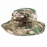 Quality Fishing Hunting Tactical Boonie Hat / Military Camo Bucket Hat With String for sale