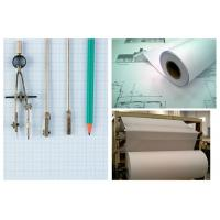 White 80gsm Garment Cutting Room CAD Plotter Paper Roll For Designers Recycled