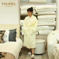 Quality 5 Star Luxury Hotel Spa Bathrobes White 100% Cotton Velour For Woman And Man for sale