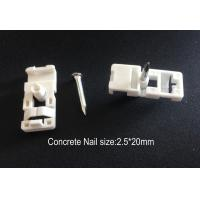 Quality Fiber Optic Accessories ABS Drop Wire Cable Clip With Concrete Nail for sale