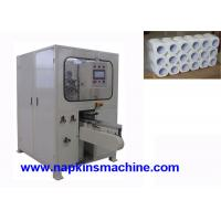 Buy cheap Full Automatic Log Saw Cutting Machine / Toilet Tissue Paper Roll Cutter Machine product