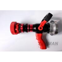 China Automatic 4 Position High Pressure Fire Hose Nozzles Fire Pistol Adjustable Flow Rate on sale