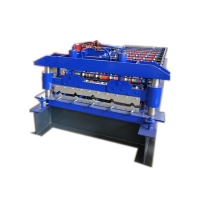 China 12m Min Building Roofing Metal Tiles Wall Panel Roll Forming Machine on sale