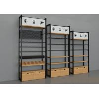 Quality Wall Side Retail Store Display Fixtures / Grocery Store Shelves Easy Install for sale