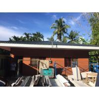 Quality Fiber Cement Board Steel Structure Homes , Light Gauge Steel Frame Modern House for sale