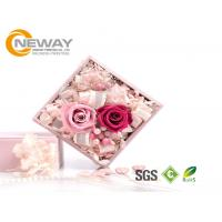 Quality Flower Gift Box , Pink Rose Waterproof Square flower paper box for Saint Valentine's Day for sale