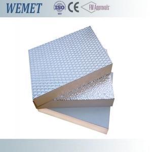 China 20MM HVAC air duct fire retardant phenolic foam insulation board with aluminum foil on sale