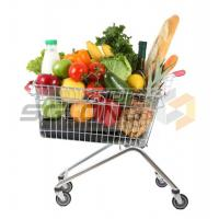 Quality Customizable Metal Shopping Cart Baskets Unfolding ISO9001 Certification for sale