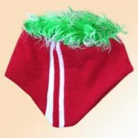 Quality 100% Acrylic Knitted Jacquard Hat with Fur for sale