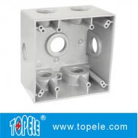 Quality Powder Coated 3 Holes Two Gang Weatherproof Electrical Boxes for sale
