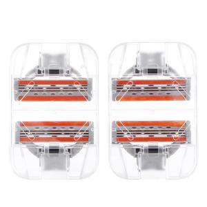 Quality Orange Triple Blade Feature Safety Razor No Electric Shaving Wholesale Set for sale