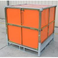 Quality Solids Foldable Pallet Container / Rigid Intermediate Bulk Containers PP Panel for sale