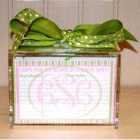 China Hot Sale!!! Factory Handmade Manufacturing Acrylic Clear Recipe Card Box for 4x6 Card on sale