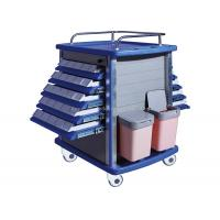 Quality Double Side Emergency Medication Trolley Reliable With Four Aluminum Columns for sale