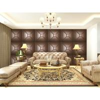 Quality Luxury Modern 3D Leather Wall Cladding TV Background Wallpaper Royal Office Wall Panels for sale