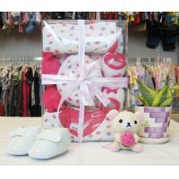 China OEM Organic Cotton New Born Baby Girl Shower Gift Sets With Baby Clothes on sale