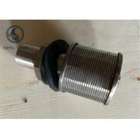 Quality 316L Stainless Steel Wedge WIre Slot Water Screen Nozzle 57mm Diameter for sale