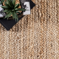 Quality handmade 30m 8mm Thickness Flat Natural Woven Sisal Carpet for sale