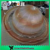 Quality Customized 2m Inflatable Planet Decoration Lighting Inflatable Saturn for sale