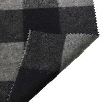 Quality 5.5cm Checked Fake Tartan Wool Fabric / Melton Wool Fabric For Fashion Coat for sale