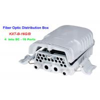 Quality 16 ~ 96 Cores Fiber Optic Distribution Box 4 into SC 16 Ports Wall mounting Holding pole for sale