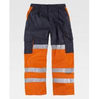 Quality Workers Orange Hi Vis Trousers/ Safety And Fashion Mens Work Pants for sale