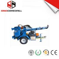 Quality 200M Protable Small Trailer  Hydraulic Water Well Drilling Rig Borehole Drilling Equipment for sale