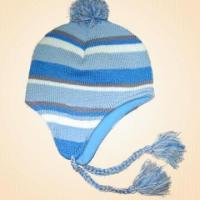 Quality Acrylic Knitted Cap with Fleece Lining for sale