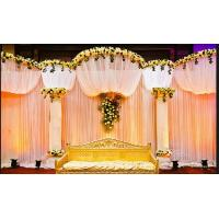 Quality Aluminm stage backdrop wedding decorate Pipe And Drape Wedding Backdrop curtains for sale