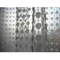 Quality metallic colored curtain fabric, pink metallic mesh fabric for sale