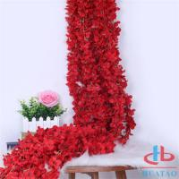Quality Decoration Artificial Flower Wall For Decoration , Fake Red Roses for sale