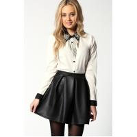 Quality Leather Womens Summer Skirt / Skirts , Black Short Professional for sale