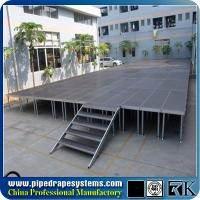 China Aluminum Simple Event Stage Outdoor Concert Stage manufacturer with adjustable legs on sale