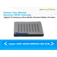 Buy cheap Black SD DVB C Set Top Box Mpeg2 Steel Case Audio Video interface IR remote product