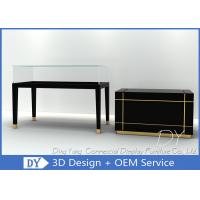 China Pre Assembly Wood Glass Jewelry Store Counter With Lights / Lock / Stainless Steel Hooks on sale