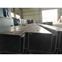 China Black / Galvanized Steel Channel Easy Installation With ISO 9001 Certification on sale