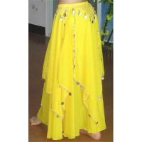 Quality Belly Dance Skirt, Dance Dress with coins for sale