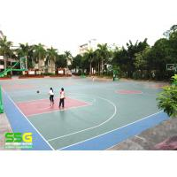 Quality Eco-friendly SPU sports flooring material rubber floor mat basketball flooring price for sale