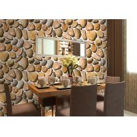 Buy cheap Cobblestone Printing Natural Style 3D Home Decoration Wallpaper CE / ISO / SGS / CSA Test product