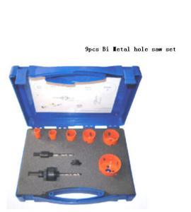 Quality JWT 9PCS HSS Bi Metal Hole Saw Set for sale