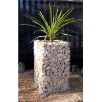 Quality Gabion Planters, Wire Welded Gabion Flower Columns/Benches,Stone Cages for sale