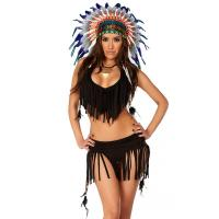Quality Balck Spandex Rain Dance Sexy Native American Costume with Size S to XXL Available for sale
