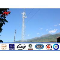 China 80FT 90FT 100FT Galvanized Mono Pole Tower Steel Monopole Transmission Tower on sale