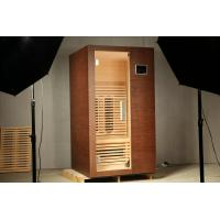 Quality 220v 1 Person Ceramic Infrared Sauna Room with Tempered Glass Door for sale